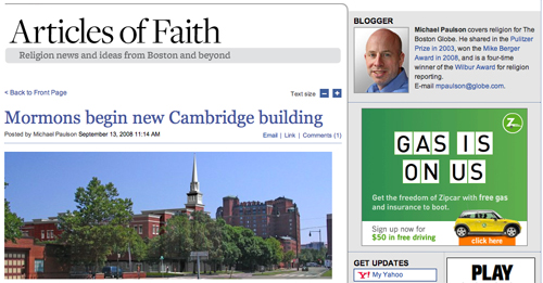 Boston Globe 'Articles of Faith'